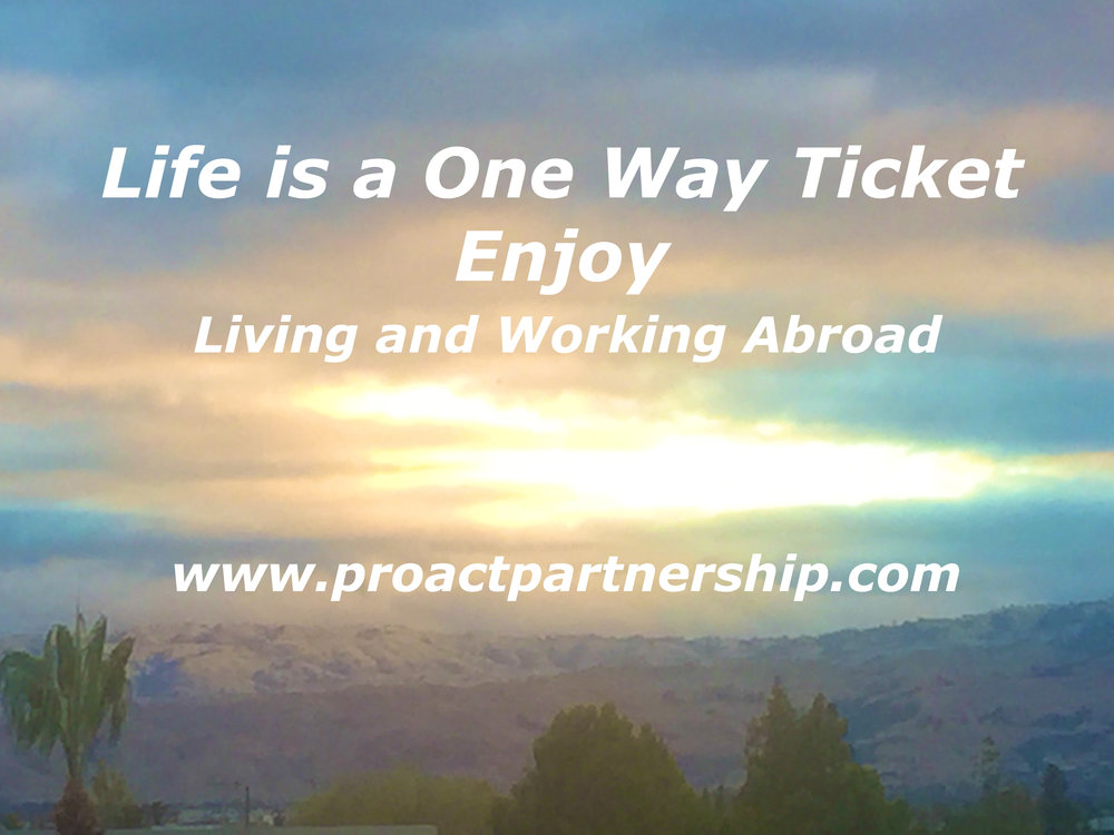 Life is a One Way Ticket - Enjoy !!