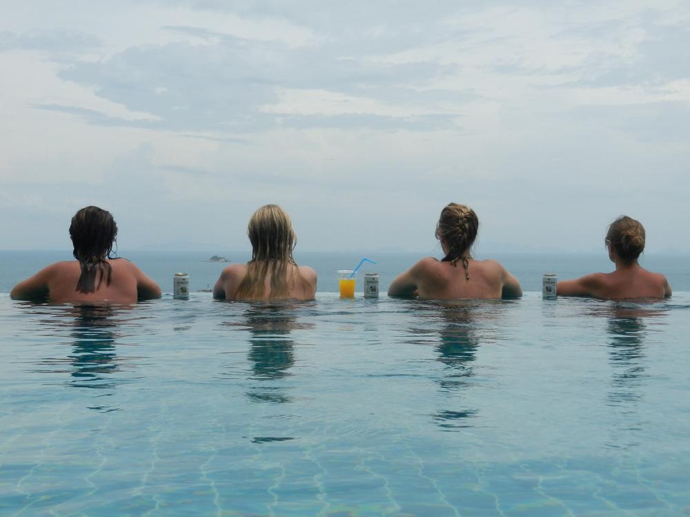 Infinity pool in Koh Phangan, Thailand