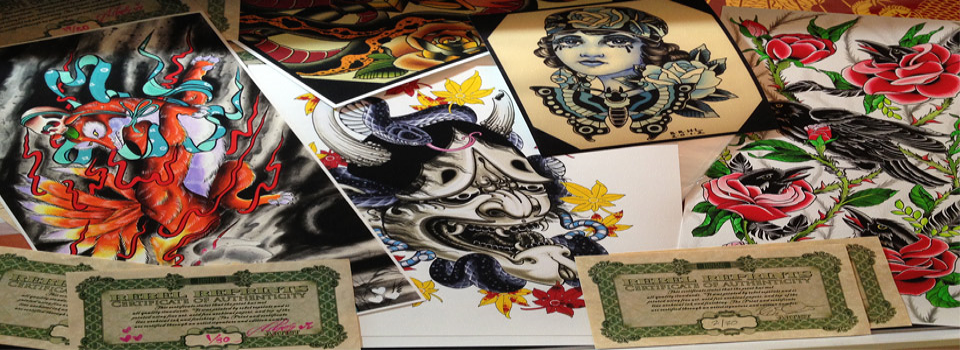 Printing services for the tattoo industry, by tattoo artists that know the quality you expect.