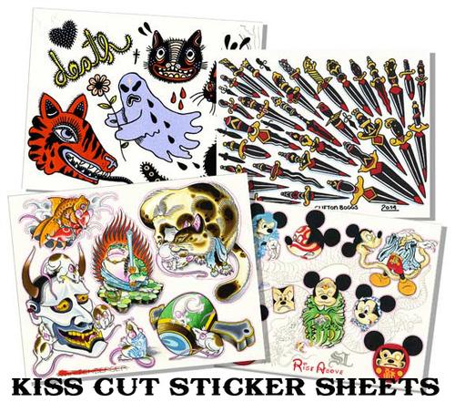 Sticker flash sticker printing