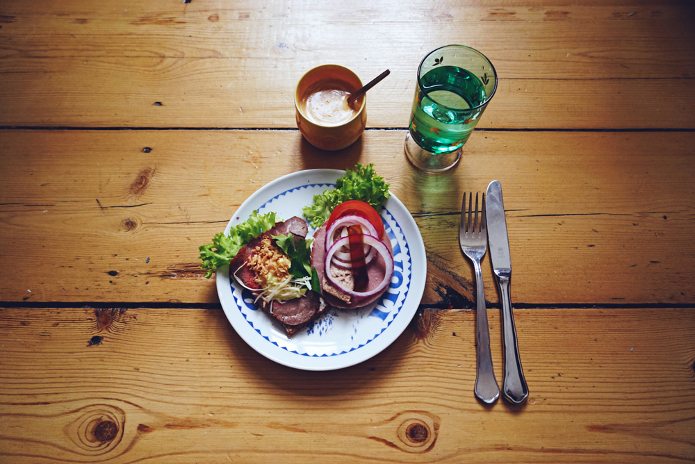 food from the local smørrebrøds shop
