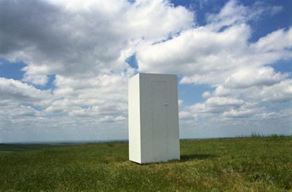 Thinking Box in Infinite Landscape , Nebraska, 1997