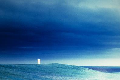 Thinking Box in Approaching Rainstorm , Nebraska, 1997