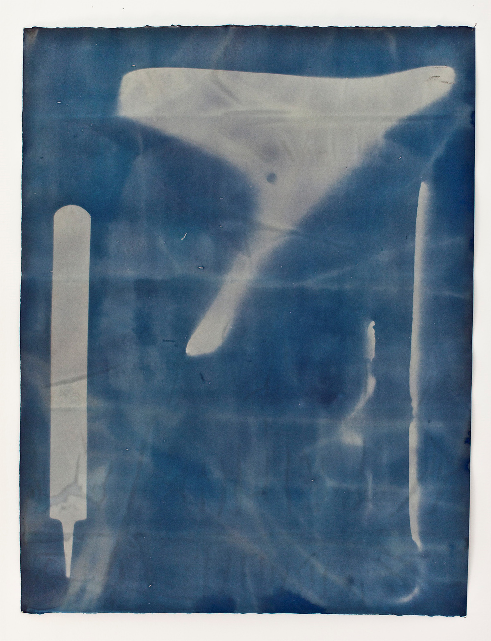 "Untitled I, cyanotype, 18""x22"""