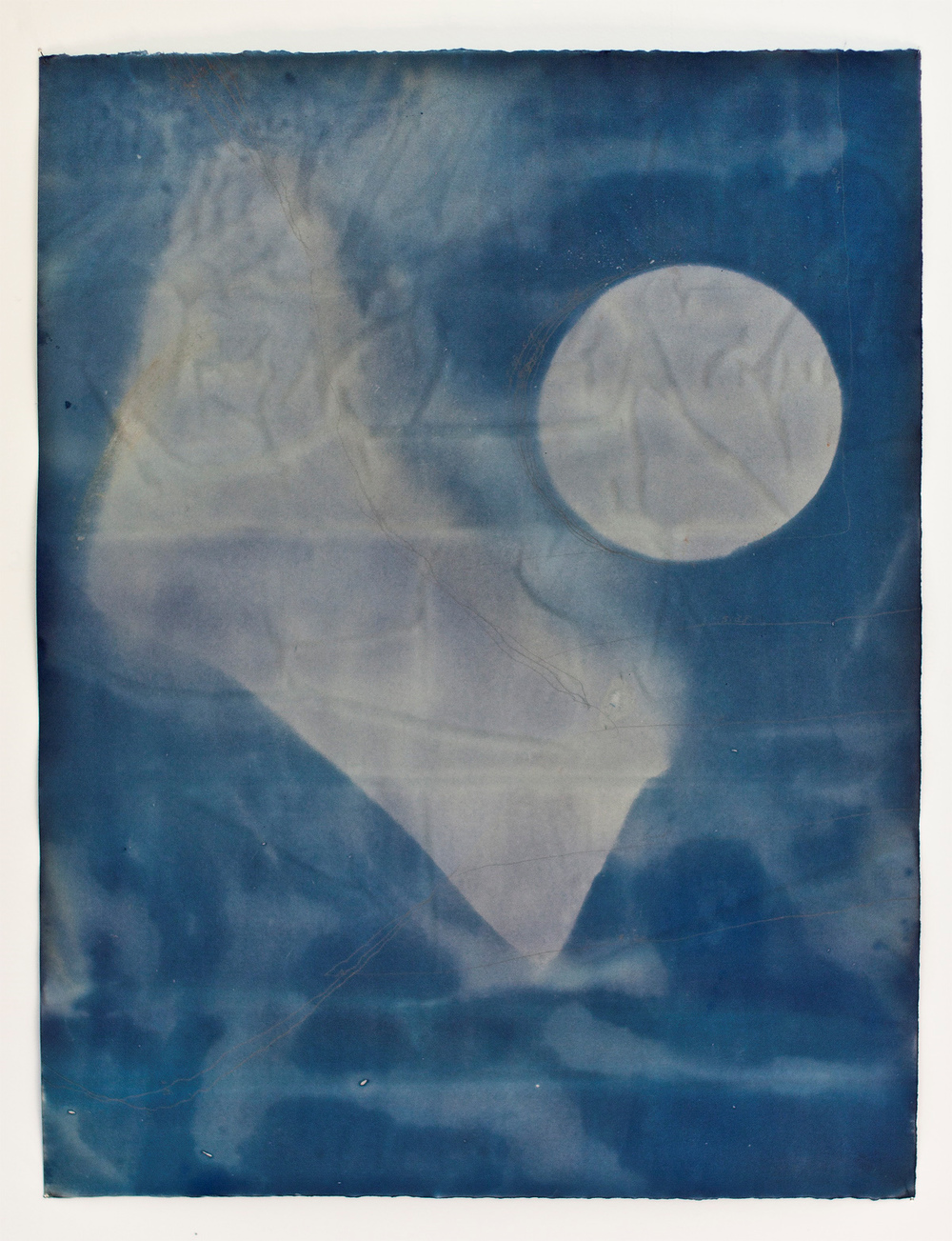 "Untitled II, cyanotype, 18""x22"""