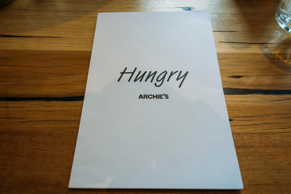 archies food menu
