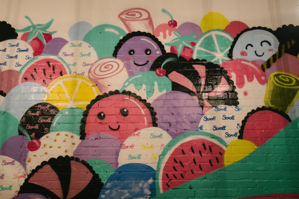 Scroll Ice Cream interior artwork Voyage Collective