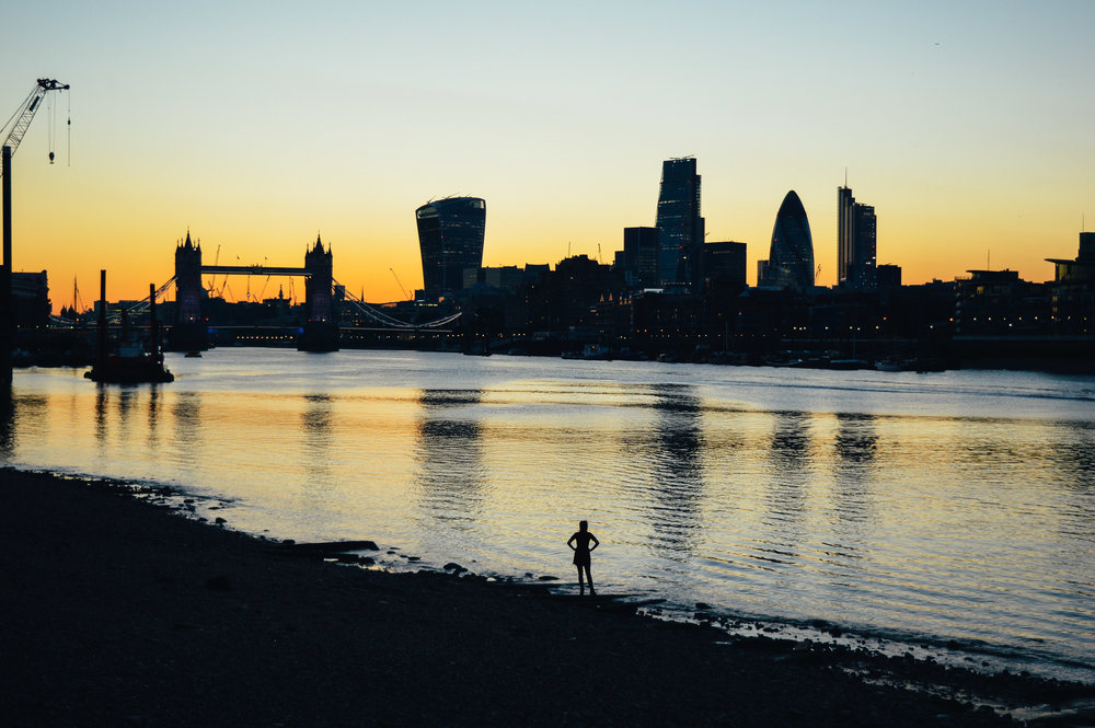 London skyline sunset Voyage Collective Fi McCrindle