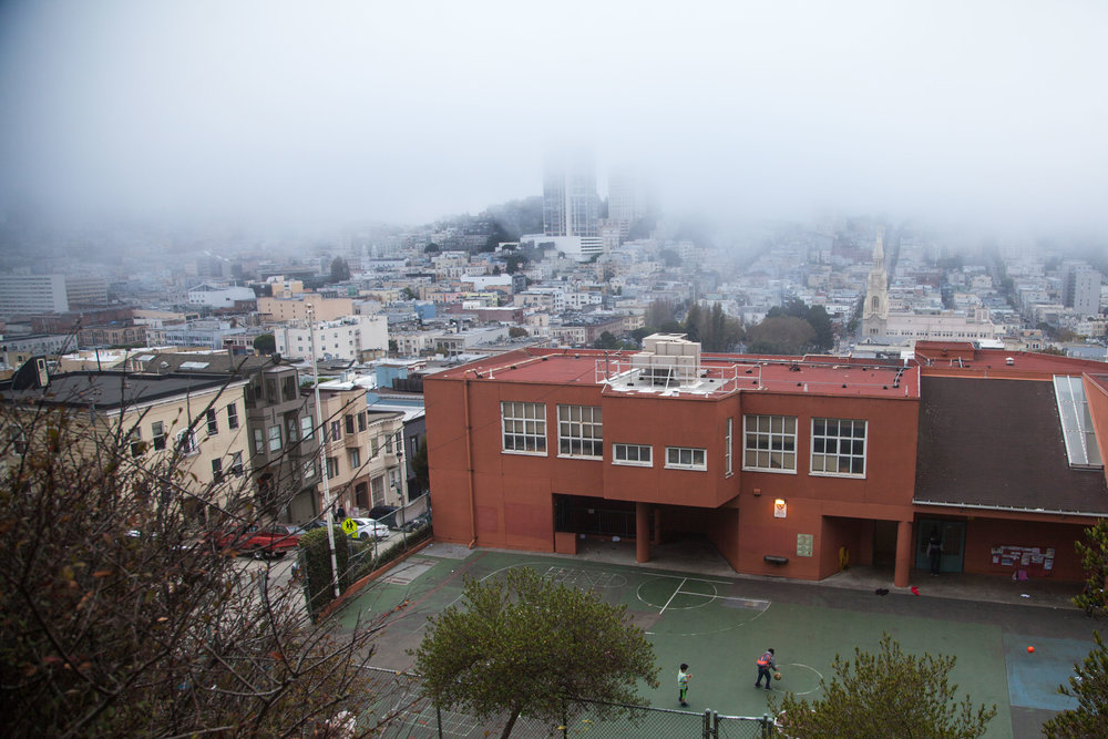 Kids playing basketball San Francisco Voyage Collective Rory Armstrong