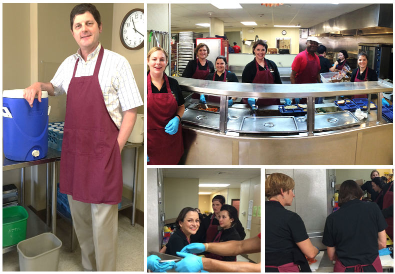 Staff of A Jeune Advanced Medical Spa volunteer at St. Joseph Diner