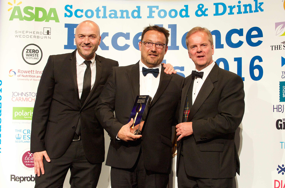 """Food Pioneer"" at the Scotland Food & Drink Excellence Awards"