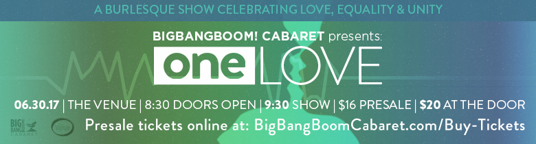 Big Bang BOOM! Cabaret One Love Banner