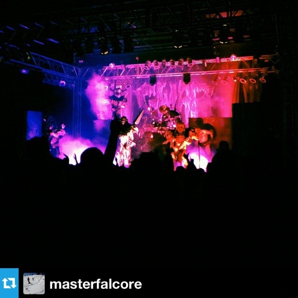 #Repost from @masterfalcore. #unhly went out last night and got a little unholier thanks to @gwar #letusslay