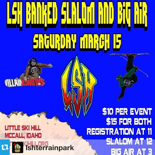 #Repost from @lshterrainpark only 3 days away. Get your sticks waxed and find a ride to McCall #snowboard #idaho #pnw #banked #slalom