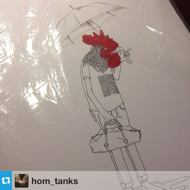 Our buddy @hom_tanks is putting a few prints on #sale keep an eye out for some of his designs in our #spring line coming soon. #art