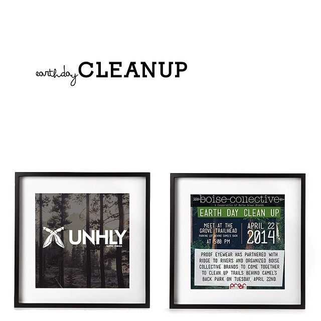 #earthday cleanup tonight 5 pm 8th street trails. Rained out last week we'll try again tonight. Come help #unhly and @proofeyewear keep it green