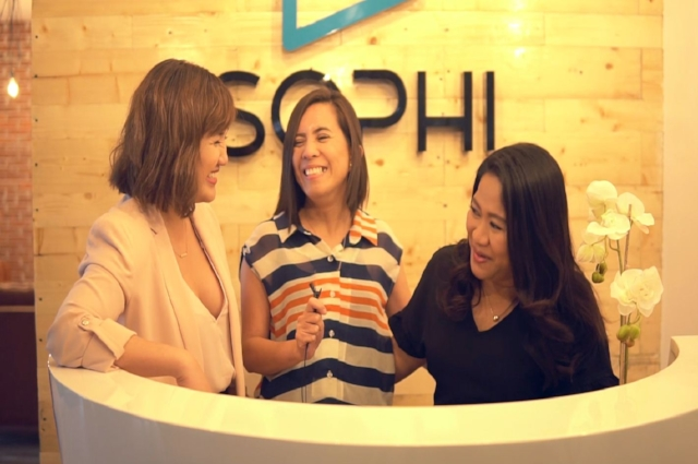 The ladies behind SOPHI's success! L-R Chloe, Cherryl, Atty. Anna-Marie.