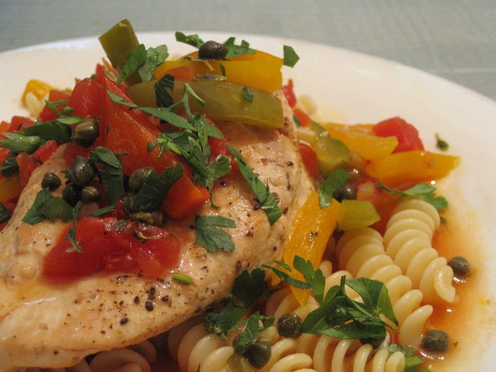 Chicken Pasta with Capers