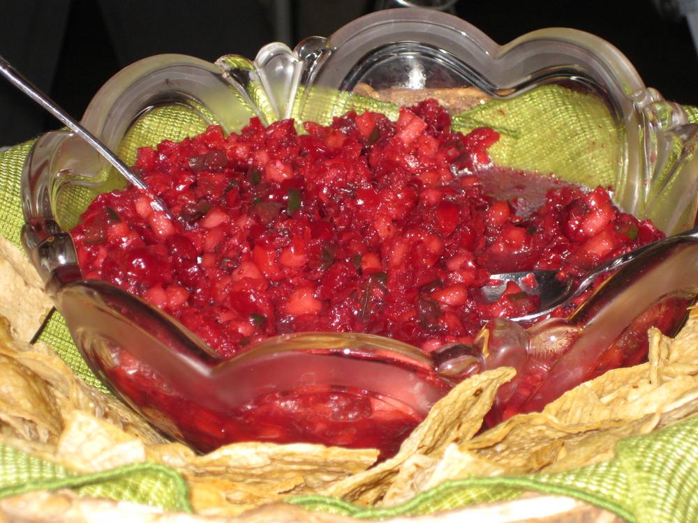 Cranberry Pear Salsa