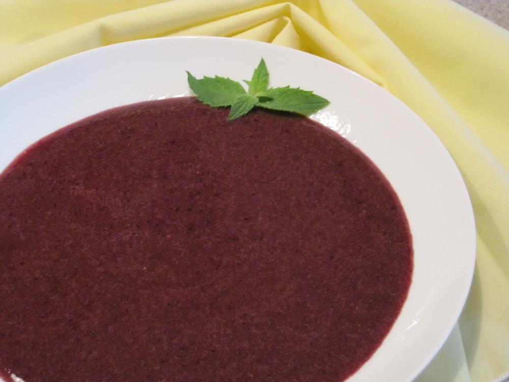 Very Blueberry Soup