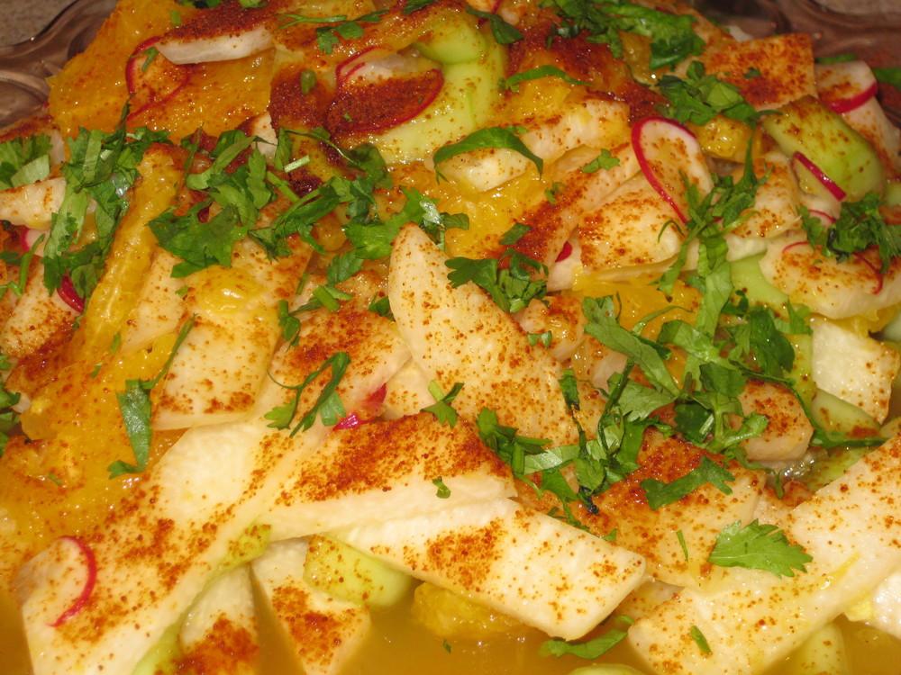 Jicama, Radish, Avocado and Orange