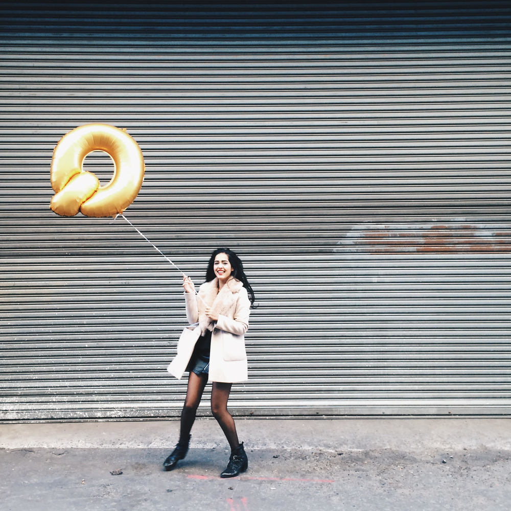 arushi khosla, dumbo, brooklyn, arushi.co, fossil q, zara, fur coat, leather skirt, w concept, nasty gal, black ankle boots