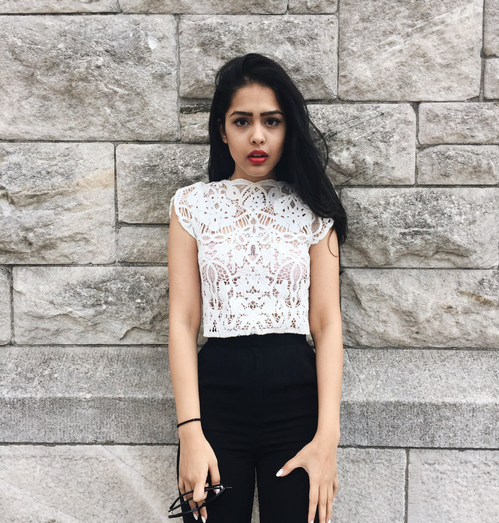arushi khosla, arushi.co, keepsake the label, esther boutique, williamsburg, lace top, cropped trousers,