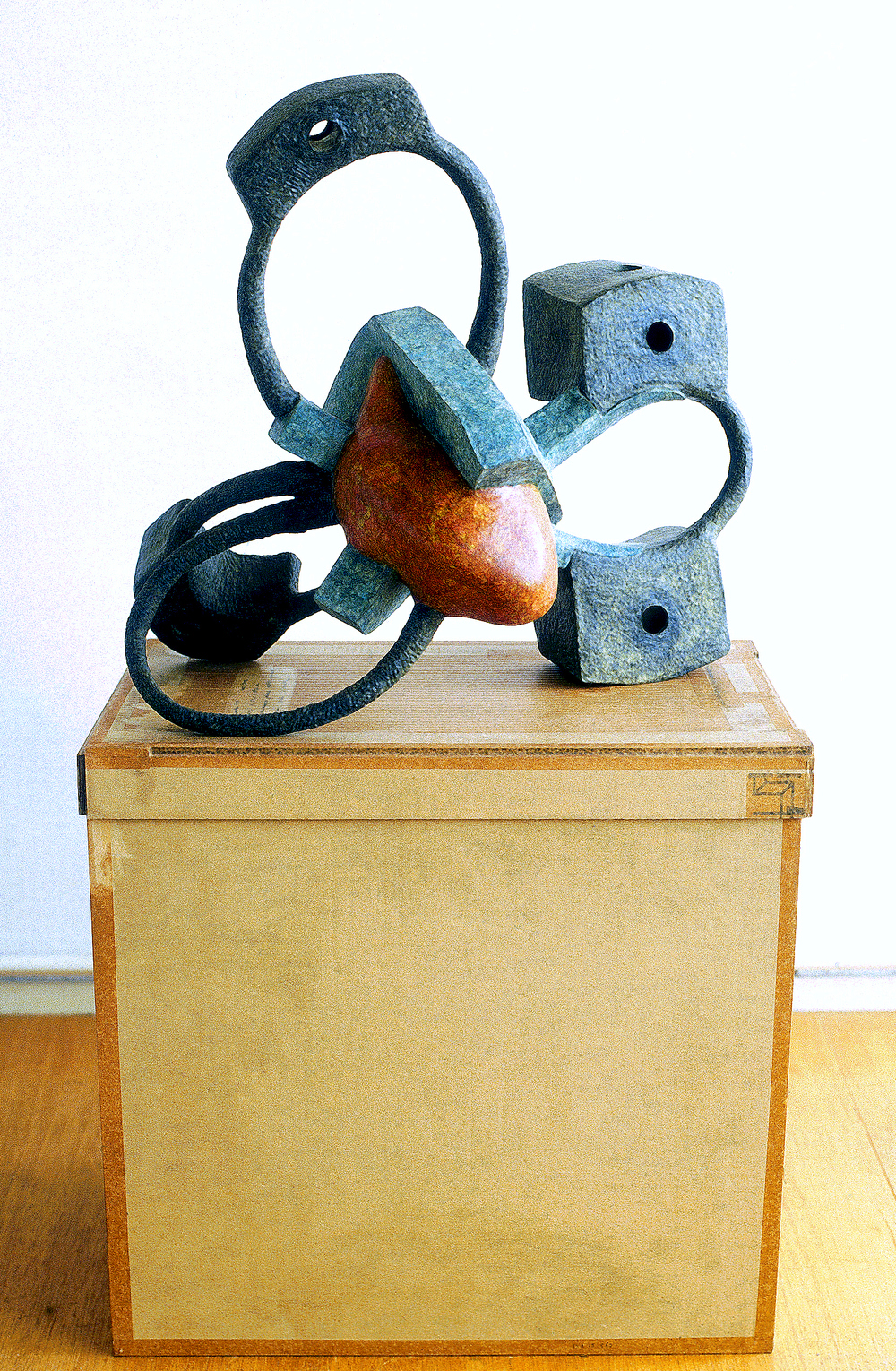 Untitled 2002 - 2003, Newspaper, leaflets, inorganic household waste, wax. 52 x 55 x 34 cm. (ex. box/pedestal). Private collection. Photo: W.Vermaase.