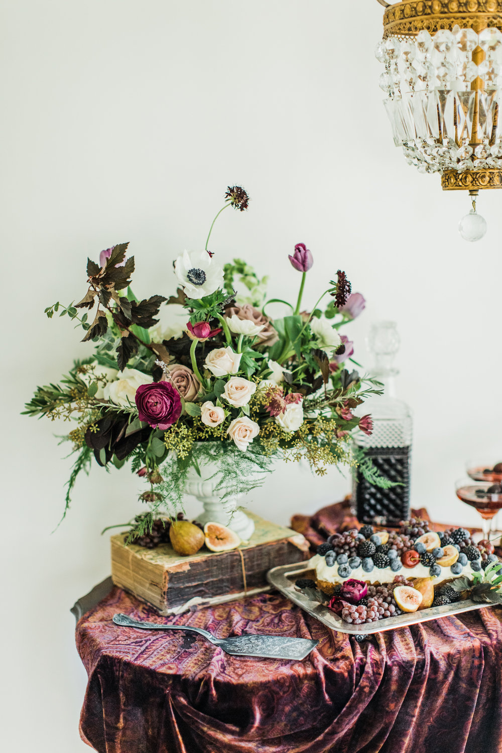 Texture is a must in a monochromatic color story. Styling by jennifer of {feather + oak}, photography by Sarah Sidwell Photography, florals by Emily Kennedy of Kennedy Occasions.