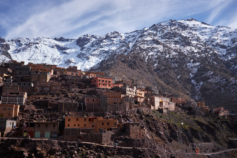 Berber village in the Atlas Mountains.