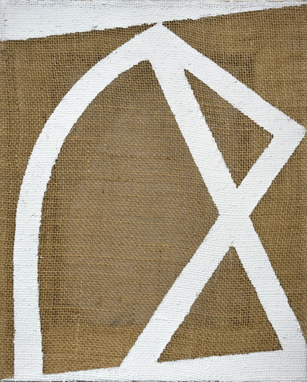 "2015                            16""x11""                               Gesso on burlap"