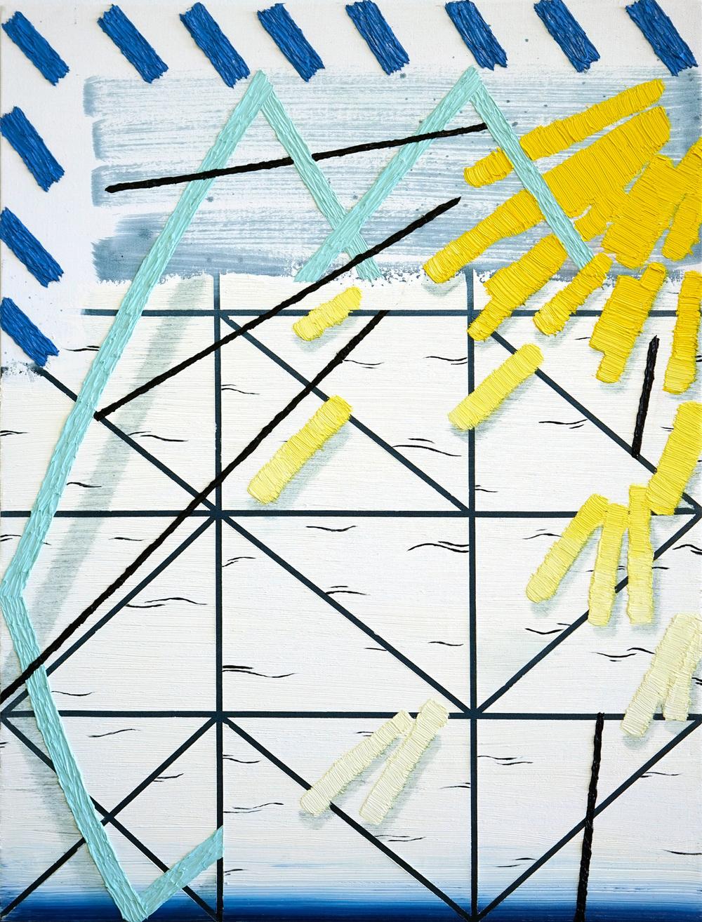 """New Sun     2016             38""""x30""""               Oil on Belgian Linen"""