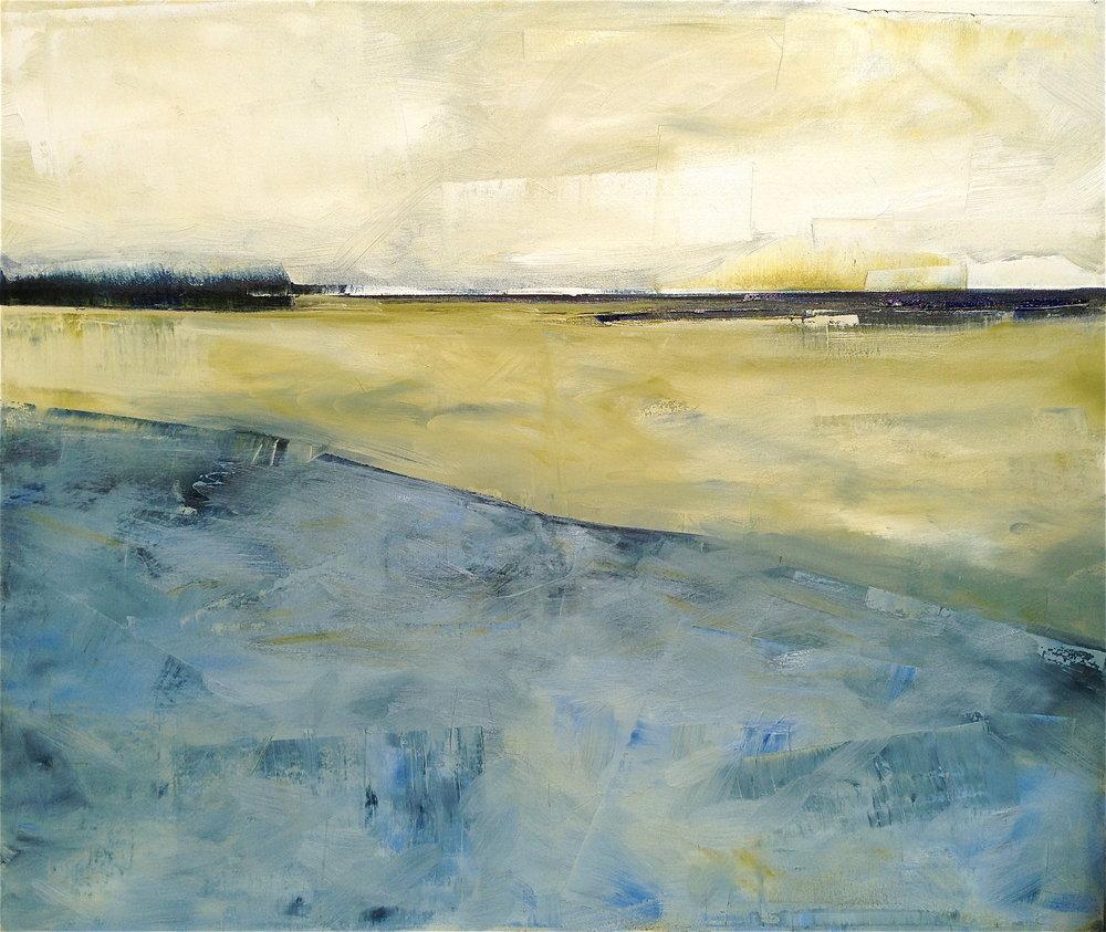 """CT Salt Marsh  42""""x 50"""" Oil on Canvas"""