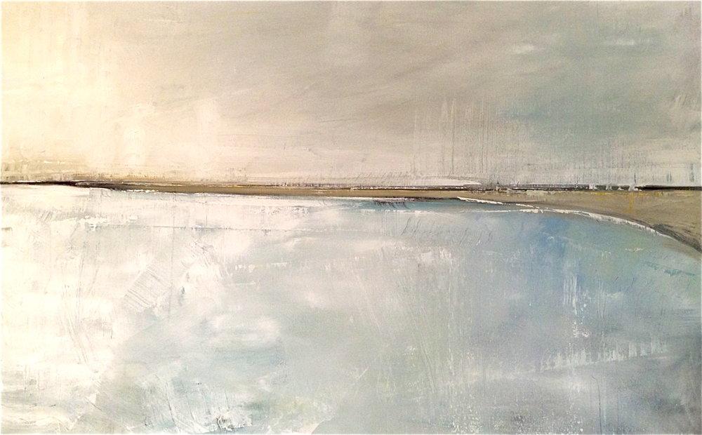 """Compo Beach 30"""" x 40"""" Oil on Canvas"""