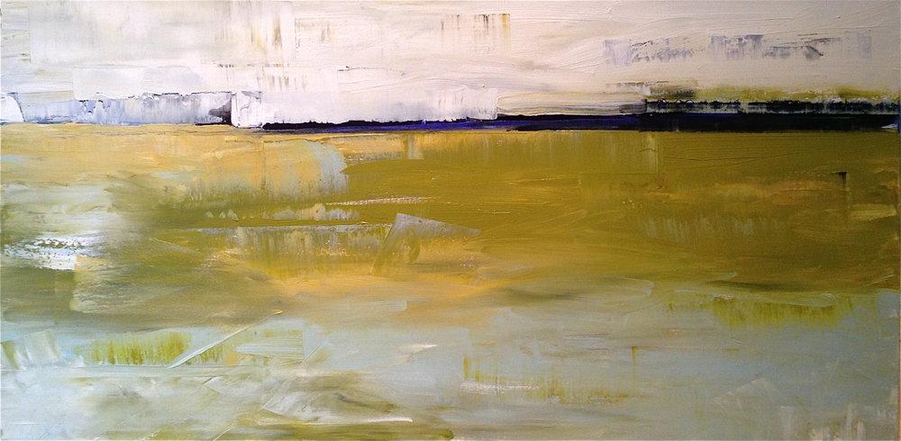 "Margate Marsh M&D 24"" x48"" Oil on Canvas"
