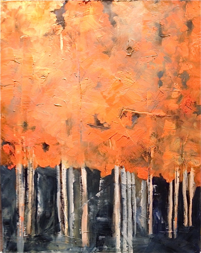 """Trees 24""""x30"""" Oil on Canvas"""