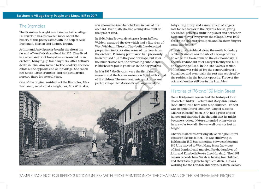 One page from our book showing a photo from the archives
