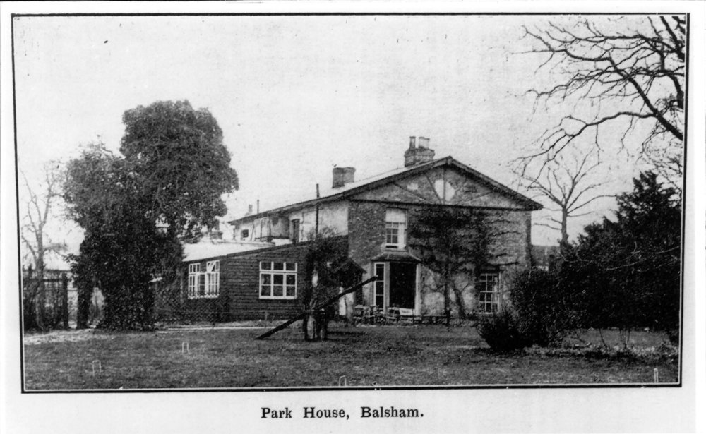 A postcard of Park House