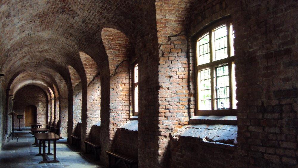 Inside the Charterhouse building in London