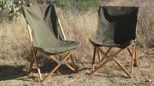 The Legendary South African Camp Chair, Left. Its Offspring, Right.