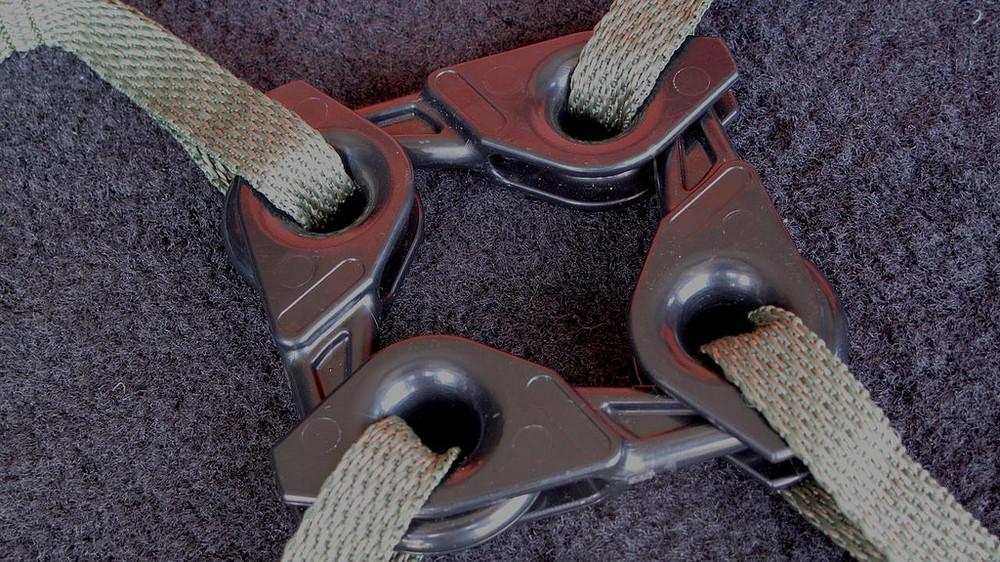 . . . to lengthen a strap or create a web.