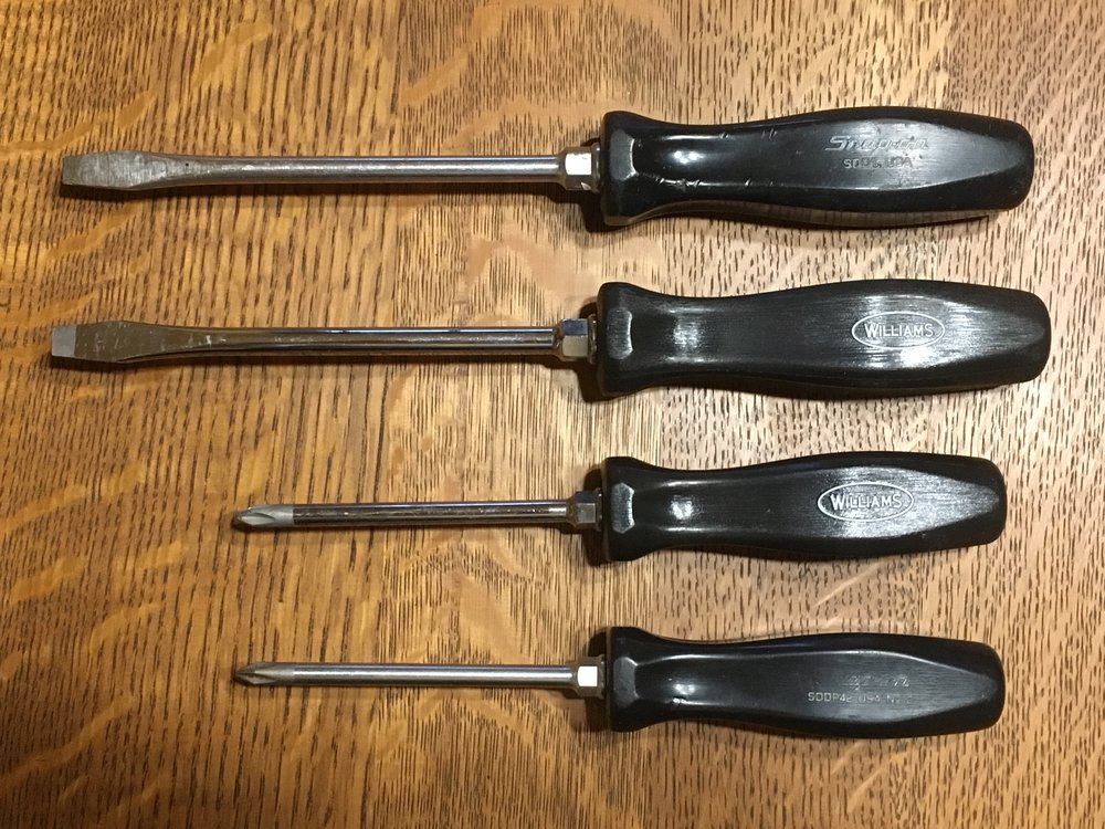 Snap-on and JH Williams screwdrivers