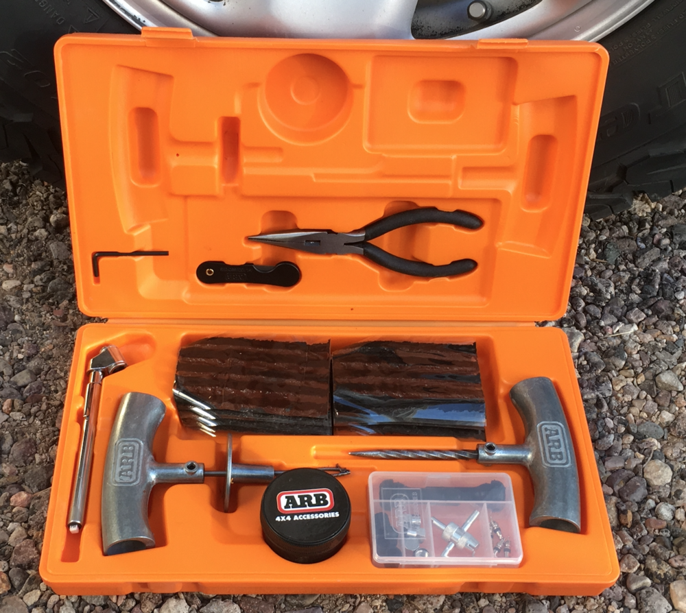 . . . and the also-excellent  ARB  kit, well-organized in a blow-molded case ($42).