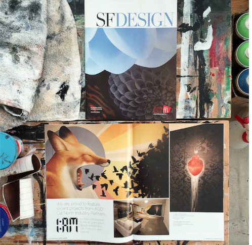 my work featured both in,and on the cover of,the SF Design publication by theAmerican Society of Interior Designers.