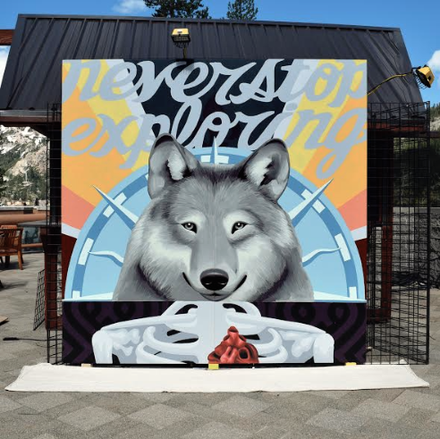 one-day mural painted in Squaw Valley for The North Face