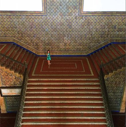 escalera con linda (Sevilla)