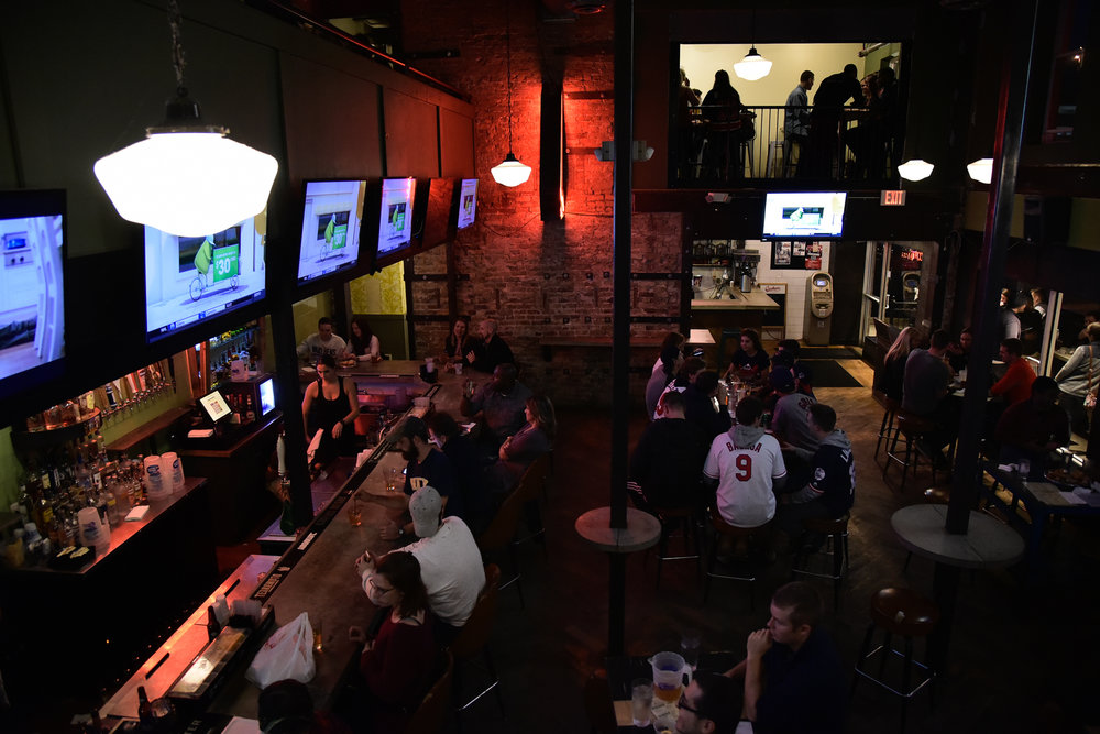 This restaurant and bar serves a mean brunch on Saturday & Sundays from 9:00am - 2pm featuring a self serve bloody mary bar. Arcade games are located upstairs. 19 E. 13th Ave, Columbus, OH 43201 Map & Info