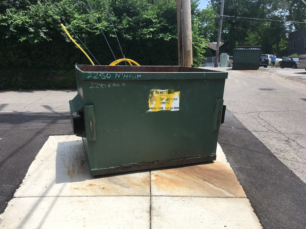 8-yrd dumpsters