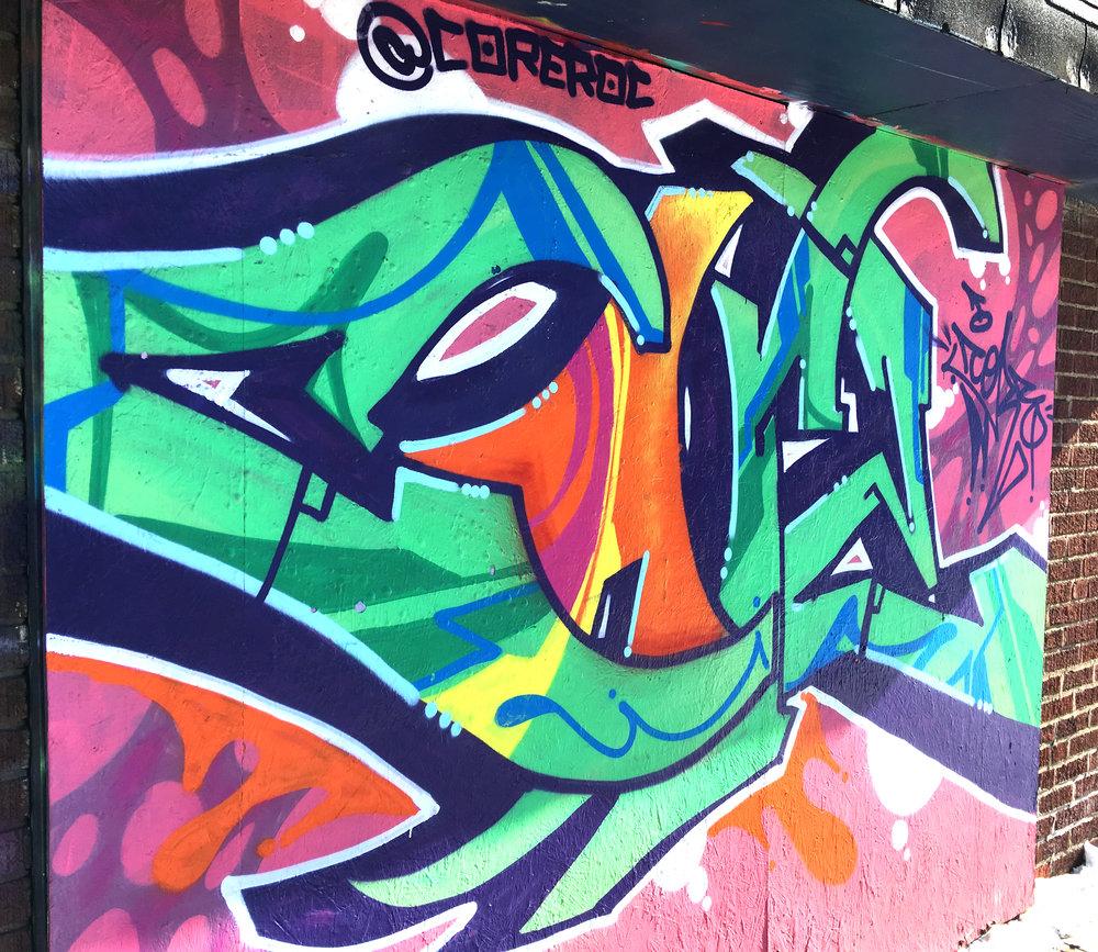 Graffiti Mural - 2180 N High StreetArtist: @coreroc