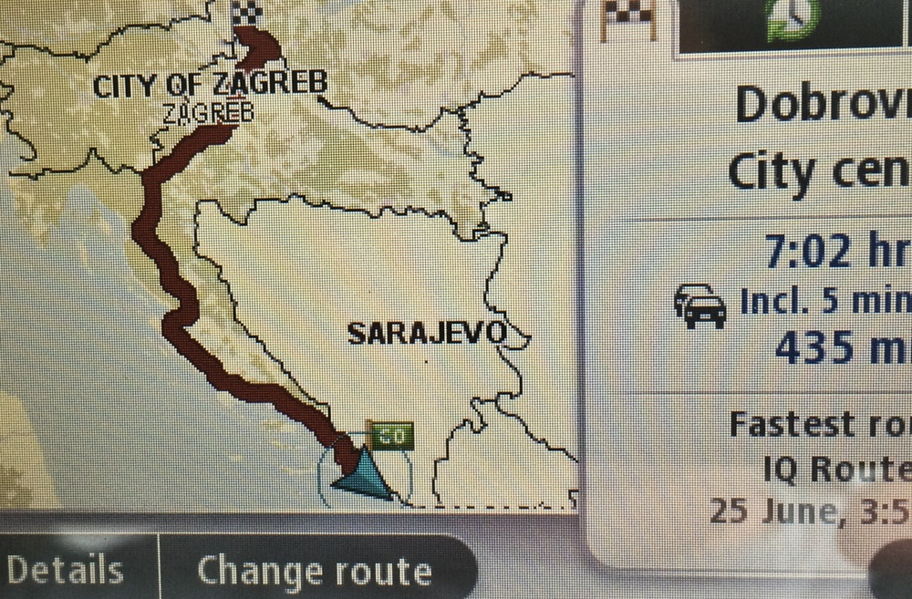 TomTom. Knows the roads down Croatia but is scared of them.